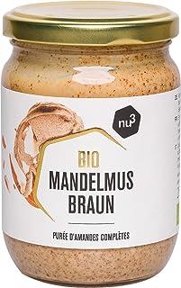 nu3 Purée d'amandes Brunes Bio Vegan 250g - Amandes complètes d'Espagne et d'Italie - Idéal comme matière grasse saine et ...