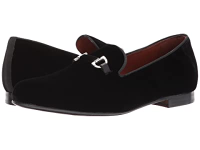 Massimo Matteo Velvet Slip-On with Bit (Black) Men
