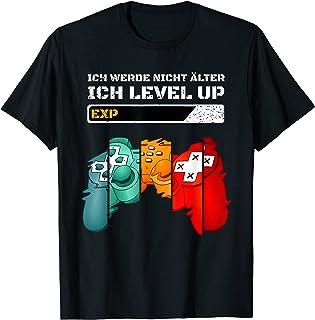 Gaming Zocken Konsole PS5 Level up Geburtstag Gamer Spruch T-Shirt