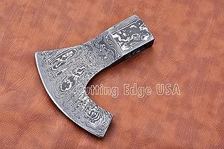Cutting Edge USA Handmade Tomahawk Damascus Steel Blade, Viking Head, Hatchet Blank Head