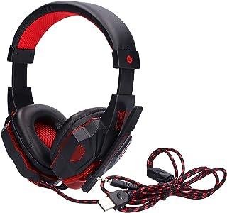 FastUU Fone de ouvido com fio para jogos, 40 mm, fone de ouvido luminoso para jogos, microfone com redução de ruído com mi...