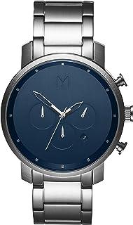ساعة كرونوغراف بمينا ازرق وسوار ستانلس ستيل للرجال من ام في ام تي - D-MC01-SBLU