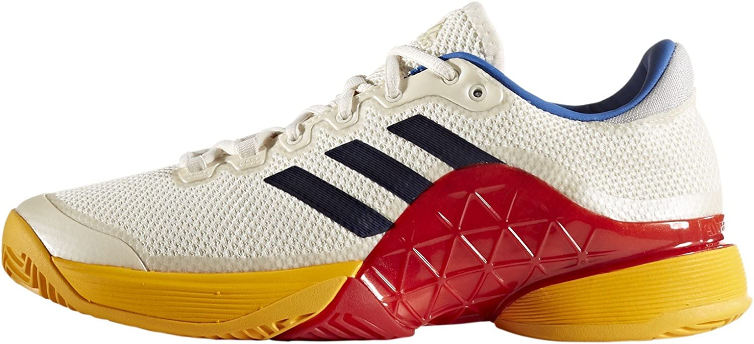 Adidas Barricade 2017 PW Men's Tennis shoes Scarle White bluee