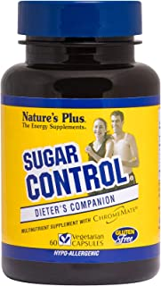 NaturesPlus Sugar Control Dieter's Companion - 60 Vegetarian Capsules - Amino Acid, Mineral & Herb Supplement - Curbs Suga...
