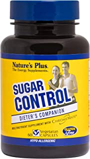 NaturesPlus Sugar Control Dieter's Companion - 60 Vegetarian Capsules - Amino Acid, Mineral & Herb Supplement - Curbs Sugar Cravings - Gluten-Free - 60 Servings