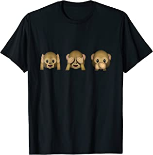 Cute Hear See Speak No Evil Emoticon T-Shirt