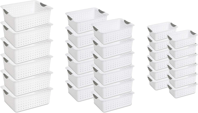 Sterilite Ranking TOP6 Multi-Size Plastic Storage Organizer Bundle Basket Reservation Set