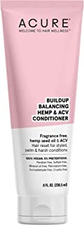 ACURE Buildup Balancing Hemp & Apple Cider Vinegar Conditioner   100% Vegan   Resets & Balances Hair for Styled, Swim & Harsh Conditions   Fragrance Free Formula   8 Fl Oz