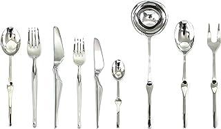 MEPRA 132228075 Set, [75 Piece, Stainless Steel Finish, Dishwasher Safe Cutlery