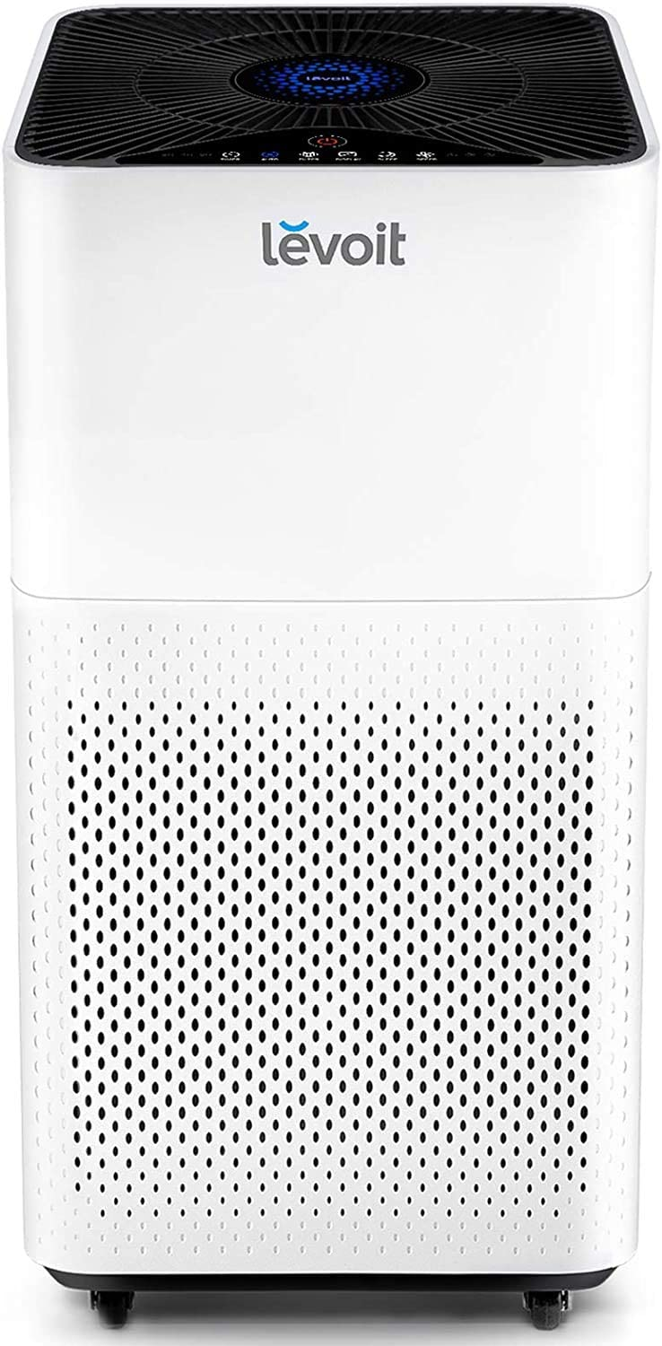 LEVOIT Air Purifier for Home Large Room with True HEPA Filter, Cleaner for Allergies and Pets, Smokers, Mold, Pollen, Dust, Quiet Odor Eliminators for Bedroom, Smart Auto Mode,LV-H135,White