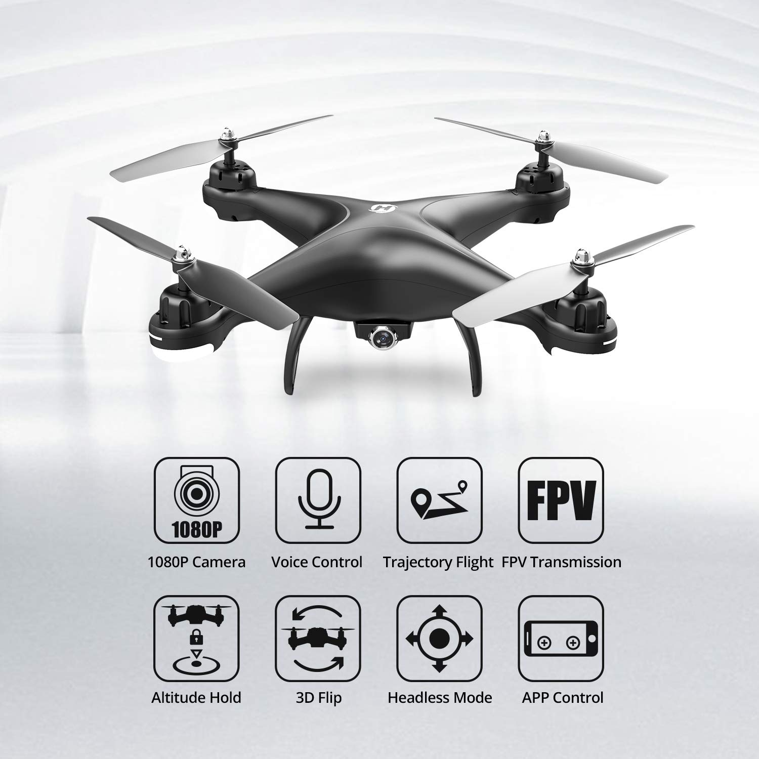 Holy Stone Hs110d Fpv Rc Drone With 720p Hd Camera Live Video 120 Wide Angle Wifi Quadcopter With Altitude Hold Headless Mode 3d Flips Rtf With Modular Battery Color Black Amazon Sg Toys