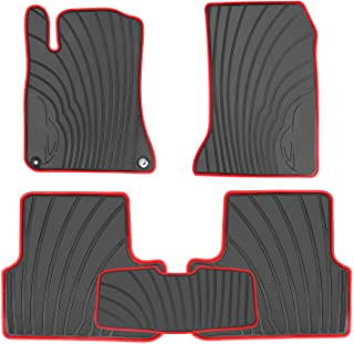 HD-Mart Car Floor Mats Liners Custom Fit for Mercedes Benz A Class 2012-2019/B Class 2013-2019 GLA 2014-2019 Black Rubber Set All Weather Protection Heavy Duty Odorless