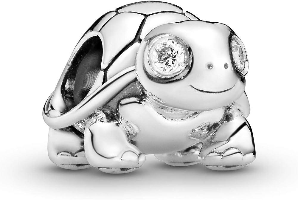 Pandoro ciondolo charm tartaruga luccicante in argento sterling 925 797878CZ