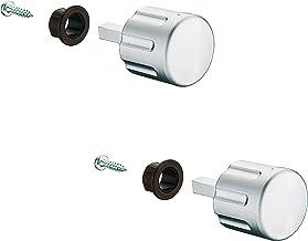 GedoTec® draaiknop caravan camper voor Push-Lock schroefsloten | Meubelslot draaiknop met vierkante stift lengte 28 mm | m...
