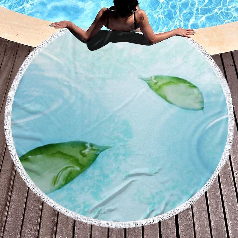 Water Round Beach Towel Microfiber Picnic Blan Tassels Brand new Large Rug Ranking TOP20