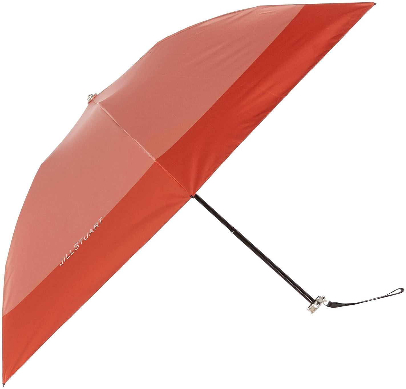 哲学博士放出歩き回る[ジルスチュアート] AURORA(オーロラ) 1JI 17738-38 リボンストラップつきバイカラーオールシーズン傘 おりたたみ傘 レディース