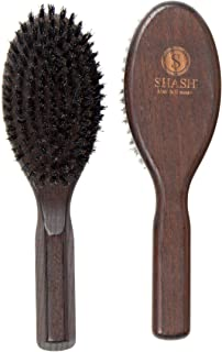 Made in Germany Since 1920 - SHASH The Impeccable 100% Boar Bristle Hair Brush, Firm - Naturally Conditions Hair, Improves Texture - Exfoliates, Soothes and Stimulates the Scalp, Eco-Sourced Ash Wood