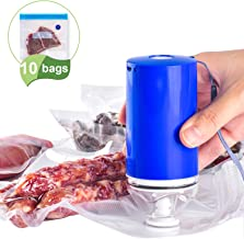 Sous Vide Bags BPA Free Reusable Food Vacuum Sealer Bags, with Rechargeable Vacuum Pump,..