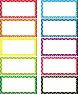 40 Pieces Magnetic Dry Erase Labels Name Plate Labels Writable Flexible Magnet Name Tags Sticky Labels and Stickers for Whiteboards Refrigerator and Crafts, 8 Colors (4 x 2 Inch)