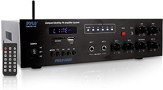 Pyle Mini Amplificador de Potencia para el hogar Compacto - 40W Smart Audio Stereo, Bluetooth