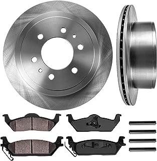 Fits: 2006 06 2007 07 Ford F-150 w// 6 Lugs Rotors KT021442 Max Brakes Rear Premium Brake Kit OE Series Rotors + Ceramic Pads