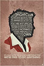 Fight Club,It's ONLY After We've Lost Everything That We're Free to DO Anything Word Art Print Poster (12