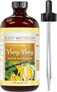 Body Wonders YlangYlang Essential Oil - 4 Oz. Bottle- 100% Pure, Undiluted Therapeutic Grade Oils - Ideal for Aromatherapy