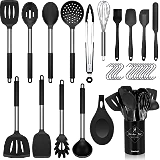 Vemingo Kitchen Utensil Set 31pcs Silicone Cooking Set, Kitchen Gadget Set with Cooking Tools Turner Spoon Spatula Tongs H...