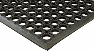 Erie Tools 3x5 Black Rubber Drainage Floor Mat 36