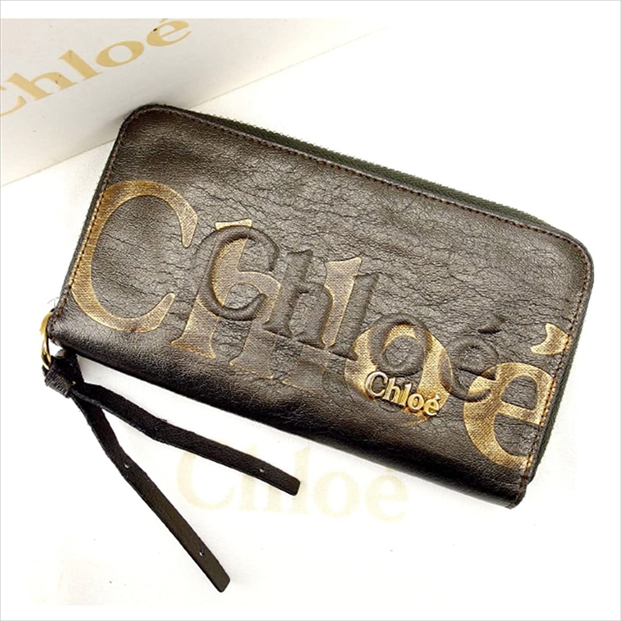 友だちほのかわずかなクロエ Chloe 長財布 ラウンドファスナー ユニセックス 中古 E594
