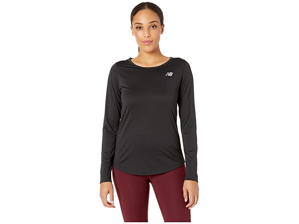 New Balance Accelerate Long Sleeve Top v2 (Black) Women