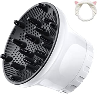 Universal Hair Diffuser Hair Dryer Diffuser Attachment For Curly Wave Thick and Nature Hair Profession Blow Dryer Diffuser...