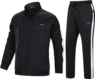 Men's Tracksuit 2 Piece Athletic Full Zip Jogging Running Suits Set