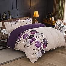 Stillshine Juego de Funda nórdica 3D Flowers Purple Red Blue Brown Beige Juego de Cama King Size Funda nórdica + Funda de Almohada Flor Lateral Ropa de Cama 220x240 cm - Cama 150 cm
