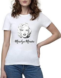 "CANOTTA T-SHIRT DONNA /"" MARILYN MONROE TATTOO  /"" CANOTTIERA IDEA REGALO"