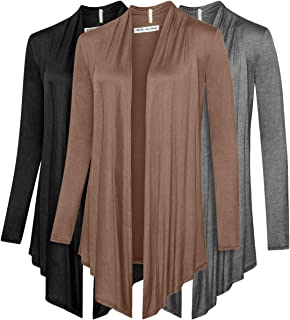 3 Pack Women's Cardigan - Light Weight Sweater with Open Front