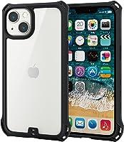 エレコム iPhone 13 2眼 ハイブリッドケース ZEROSHOCK フレームカラー ブラック PM-A21BZEROFCBK