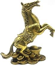 أفضل us Chinese Feng Shui Horse Brass تمثال منحوتات للمنزل والمكتب ديكور الطاولة الحلي الثروة والنجاح هدايا محظوظ جيدة