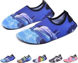 04e697e6d8c RUNSOON Kids Swim Water Shoes Girls Boys Toddler Aqua Socks Anti Slip Beach  Athletic Outdoor Sports