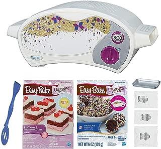 Easy Bake Oven Kit + Red Velvet and Strawberry Cake Refill + Chocolate Truffle Refill Set