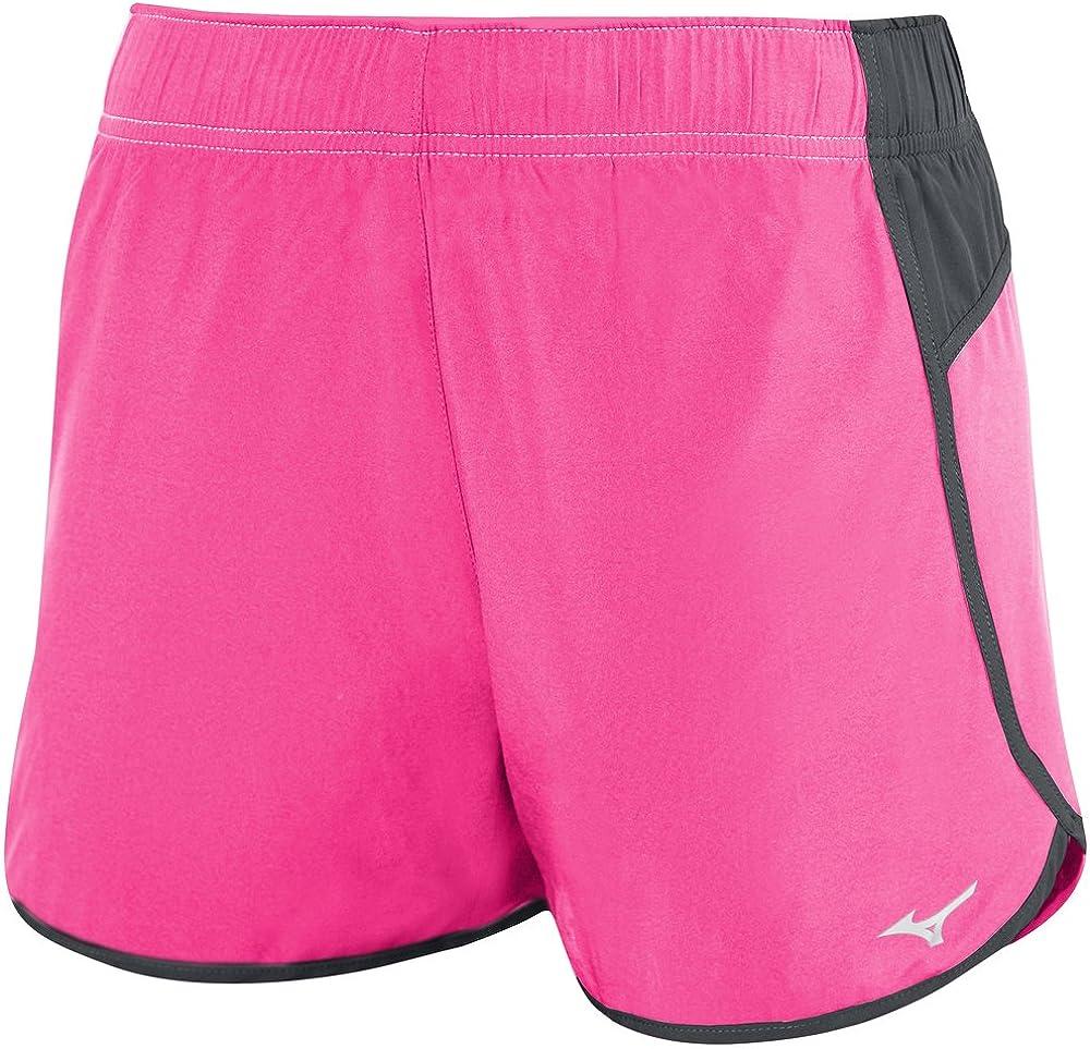 Mizuno Atlanta Cover Up Volleyball Shorts Shocking Pink/Charcoal