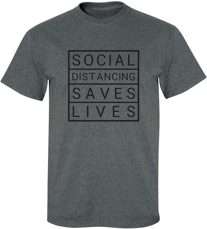 zerogravitee Social Distancing Saves Lives Adult Short Sleeve T-Shirt