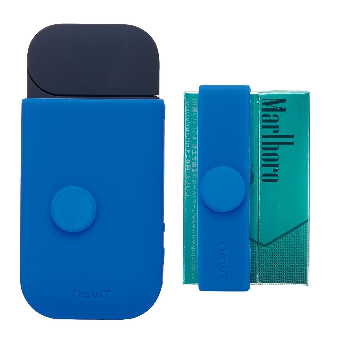 資本リネンシダサンクレスト iDress newT iQOS専用収納ケース シリコンバンド ブルー Q-NW09