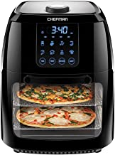 Chefman 6.3 Quart Digital Air Fryer+ Rotisserie, Dehydrator, Convection Oven, 8 Touch Screen Presets Fry, Roast, Dehydrate...