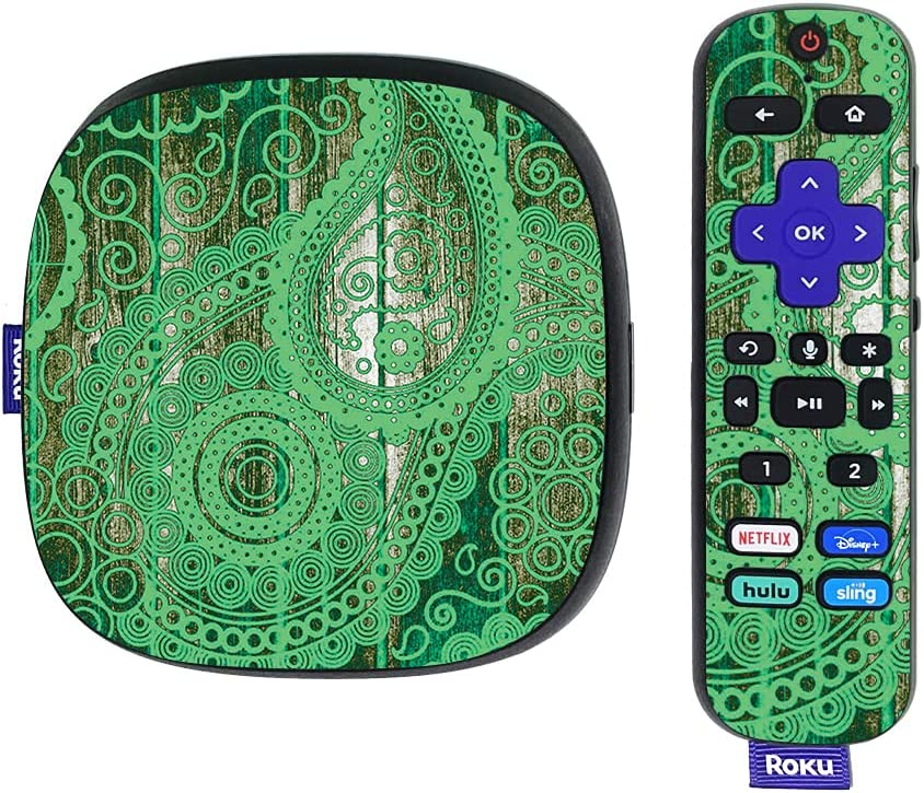 MightySkins Skin Compatible with Roku Ultra HDR 4K Streaming Media Player (2020) - Vintage Paisley   Protective, Durable, and Unique Vinyl Decal wrap Cover   Easy to Apply   Made in The USA