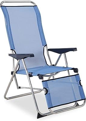 Solenny 50001072735212 -  Tumbona Relax 5 Posciones  con Respaldo Anatómico Azul
