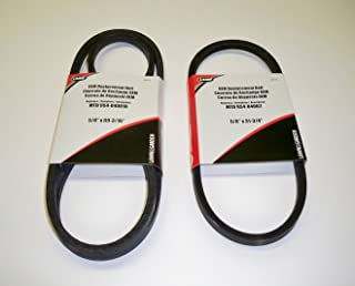 Set of 2, OEM Duplicate Belts Replaces Both Variable Speed Belts 754-04001 and 754-04002 (also 954-04001 and 954-04002). Used On MTD, White, Wards, Cub Cadet, Troy Bilt, Bolens and other MTD Manufactured Mowers
