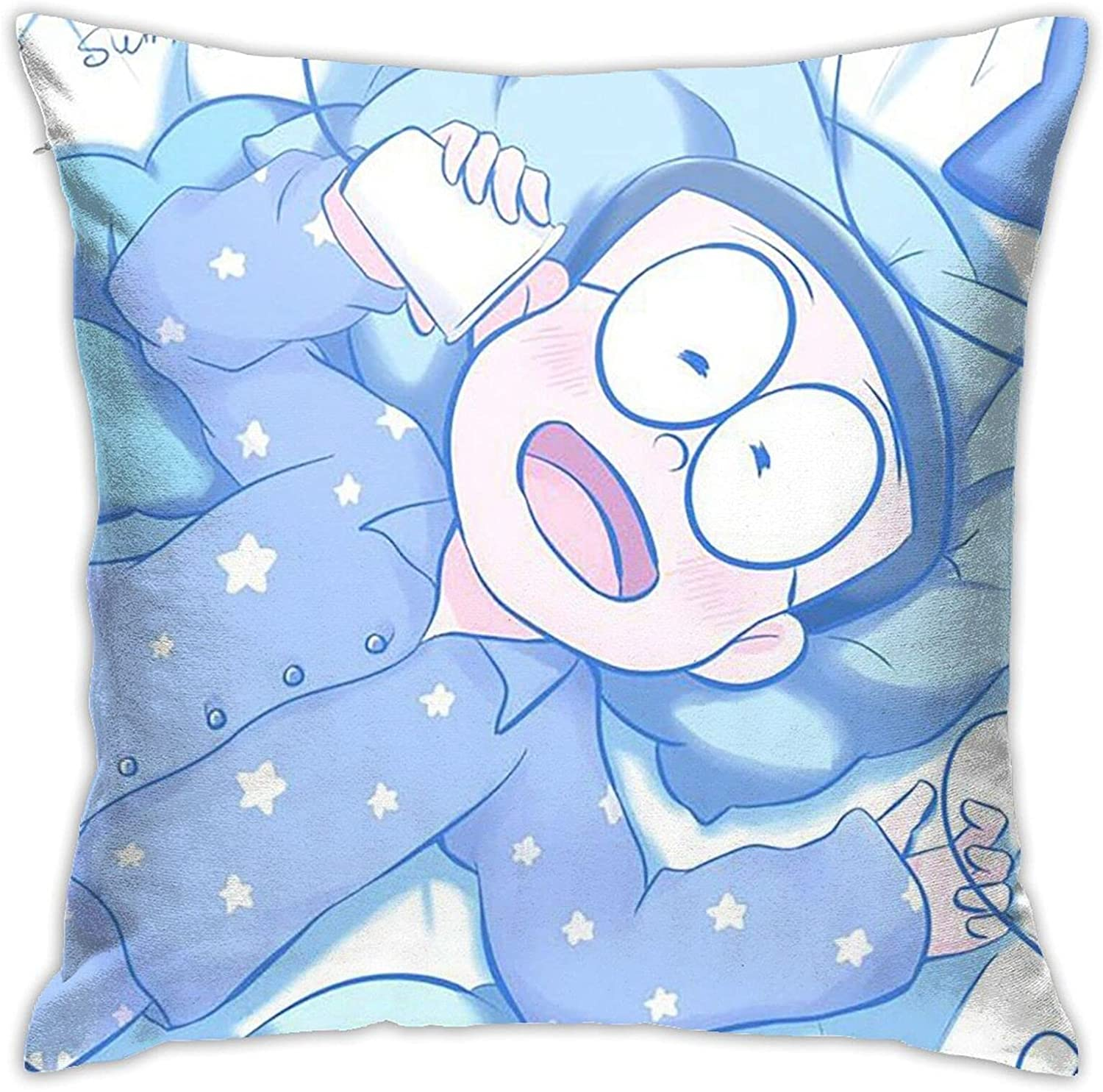 Doraemon Pillow Covers Gifts Decorative P Los Angeles Mall Case Cozy Max 87% OFF Throw