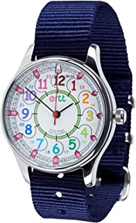 EasyRead Time Teacher Analog Learn The Time Childrens Waterproof Watch Navy #WERW-COL-24-NB