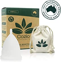 Cozio Menstrual Cup - Soft and Flexible Moon Cup - Comfortable Fit - Wear for 12 Hours - BPA & Latex Free - Size: Small…
